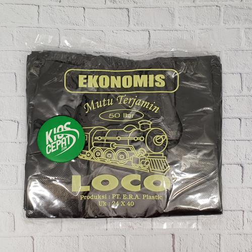 Foto Produk KANTONG PLASTIK HD LOCO EKONOMIS HITAM UK 24 dari KiosCepat