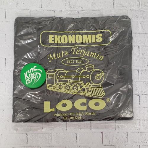 Foto Produk KANTONG PLASTIK HD LOCO EKONOMIS HITAM UK 28 dari KiosCepat