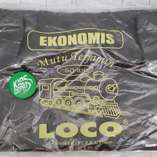 Foto Produk KANTONG PLASTIK HD LOCO EKONOMIS HITAM UK 40 dari KiosCepat