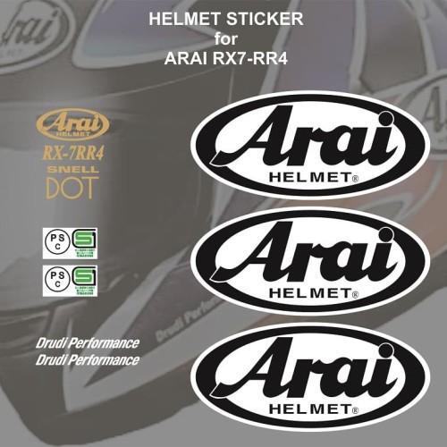 Foto Produk Sticker Set Helm Arai RX7 RR4 utk repaint modofication repair nt shoei dari Fuel