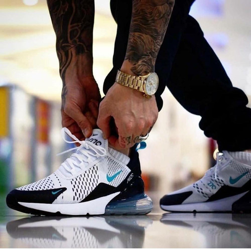 Foto Produk Sepatu Nike Airmax 270 White Blue Sneakers pria terbaru sports running dari Side Sport
