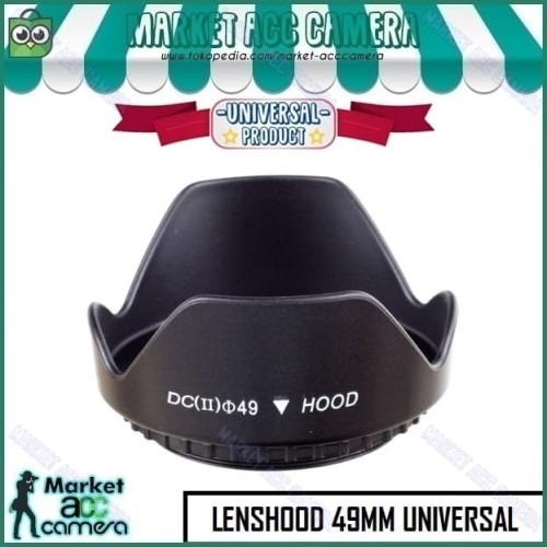 Foto Produk Lens Hood 49mm for Canon EOS M 15-45mm (EOS M10/M3/M5/M6/M50/M100) dari Market ACC Camera