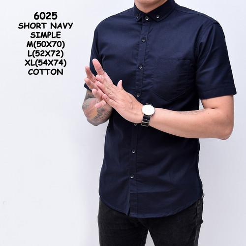 Foto Produk Baju Kemeja Lengan Pendek Pria Katun Slimfit | Kemeja Cowok Distro - M dari ALJOSA