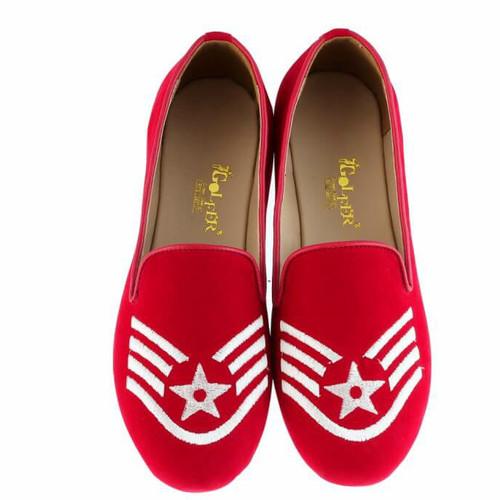 Foto Produk Golfer Flat Shoes/Sepatu Kasual - Merah, 36 dari NKS.co