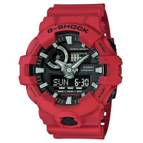 Foto Produk Jam Tangan CASIO G-SHOCK GA 700 / GA-700 ORIGINAL RESMI - Merah dari Casio Original