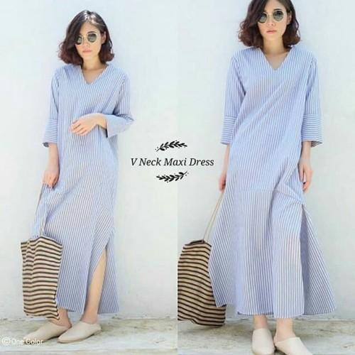 Foto Produk 885 V Neck Maxi Dress dari fashion_tnabang