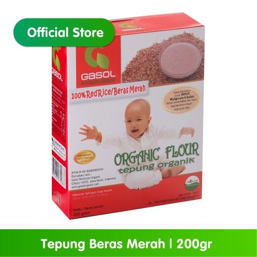 Foto Produk GASOL Organik Tepung Beras Merah 200Gr / 200 Gr /Makanan Bayi dari Gasol Organik Indonesia