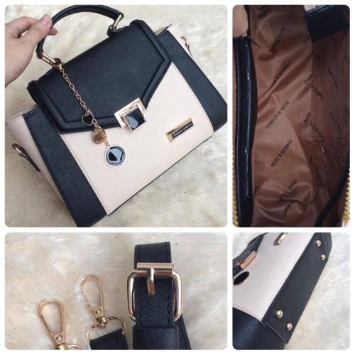 Foto Produk tas wanita cewek kado cantik unik keren hadiah murah, CK ASHANTY - Ivoryblack dari sopaybags