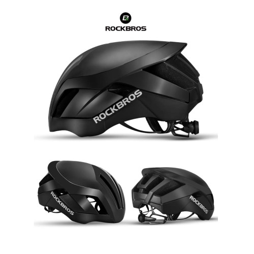 Foto Produk ROCKBROS TT-30 Bike EPS Reflective Helmet 3 in 1 - Helm Sepeda - BLACK dari Rockbros Indonesia