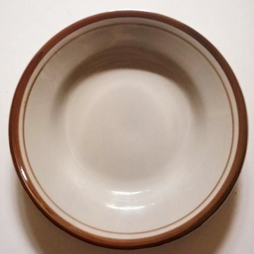 Foto Produk Piring makan keramik list coklat murah dari parabotanku
