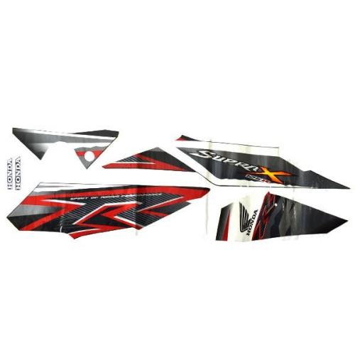 Foto Produk Sticker Body Kiri Black Grey – Supra X 125 871X0KYL690ZBL dari Honda Cengkareng