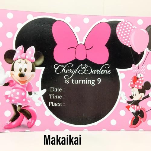 Foto Produk Kartu Undangan Invitation Birthday Minnie Mouse A dari The Kimchi