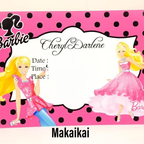 Foto Produk Kartu Undangan Invitation Birthday Barbie A dari The Kimchi