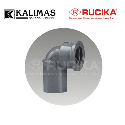 "Foto Produk Elbow / Knie Drat Dalam PVC (RUCIKA) d. 1/2"" x 90 deg - Female Elbow dari kalimas.online"