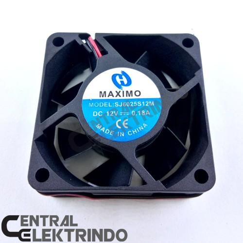 Foto Produk Fan Dc 12v Kipas Dc 6cm Tebal 6x6cm dari Centralelektrindo