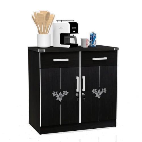 Foto Produk SUPER Kitchen Set Bagian Bawah Dua Pintu Hitam KSB 452 Walnut dari Super Furniture Online