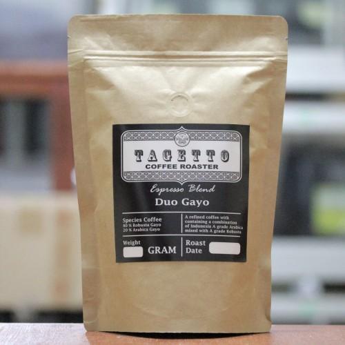 Foto Produk KOPI ESPRESSO DUO GAYO 500GR | ARABIKA ROBUSTA BLEND - BIJI KOPI dari TAGETTO COFFEE