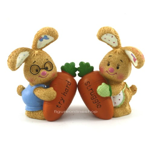 Foto Produk FIGURE / PAJANGAN TWO RABBIT AND CARROT ISI 2 dari FIGURE ONLINE SHOP