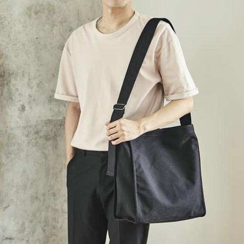 Foto Produk Tas Selempang Wanita Korean Shouder Bag Kanvas Import - Putih dari angel-city