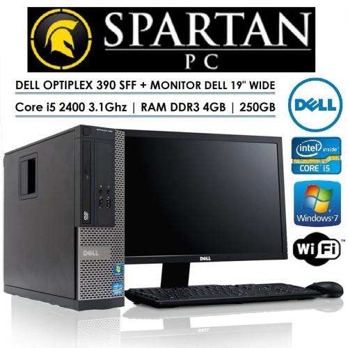 "Foto Produk PAKET KOMPUTER BRANDED DELL   CORE i5   19"" WIDE   KEYBOARD + MOUSE - Core i3, LCD 17 Kotak dari Spartan PC"