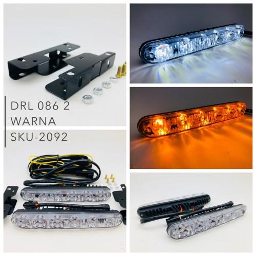 Foto Produk Lampu led DRL 086 2 warna I Lampu DRL bemper mobil 2 warna SKU-2092 dari BULLAES