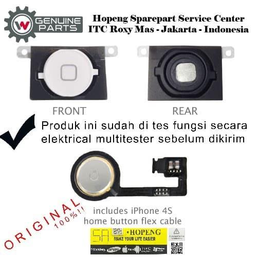 Foto Produk Home Button Iphone 4 / 4s / 4cdma - Hitam, 4 dari Hopeng Separepart