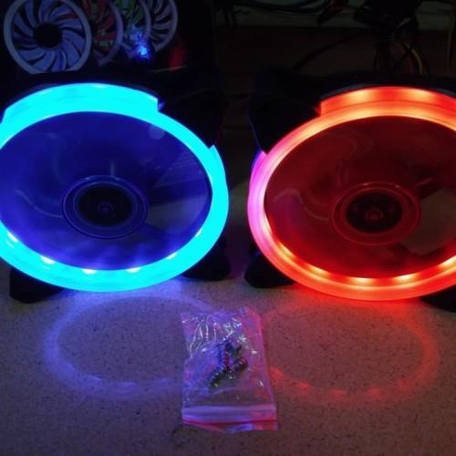 Foto Produk Fan Casing 12cm NYK Aurora Alseye - Case Fan 12 cm NYK Aurora Led Ring - Merah dari scriptechnology