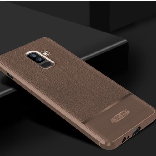 Foto Produk LEATHER ARMOR case Samsung J8 2018 softcase casing hp cover anti shock dari Casing handphone murah