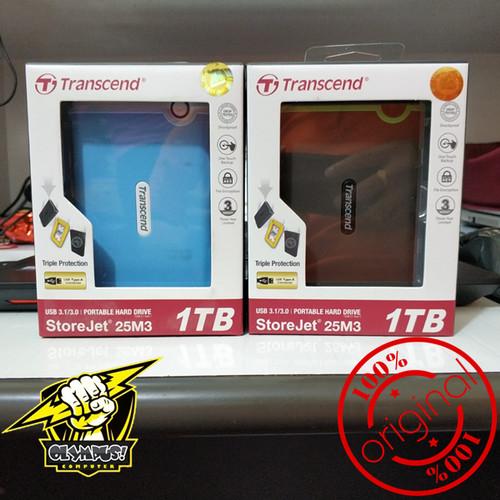 Foto Produk Transcend StoreJet 25M3 1TB Portable USB 3.0 External HDD - 25M3 dari OLYMPUS COMPUTER