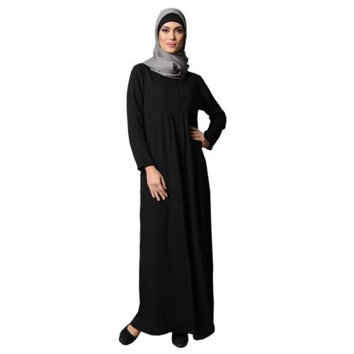 Foto Produk abaya hitam (polos) - Hitam, XL dari GrosirAbaya