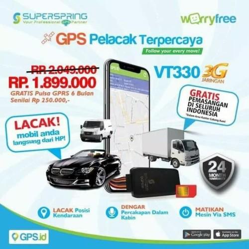 Foto Produk GPS TRACKER SUPERSPRING VT330 3G free kuota data 6 bulan dari Raja elektronic jakarta