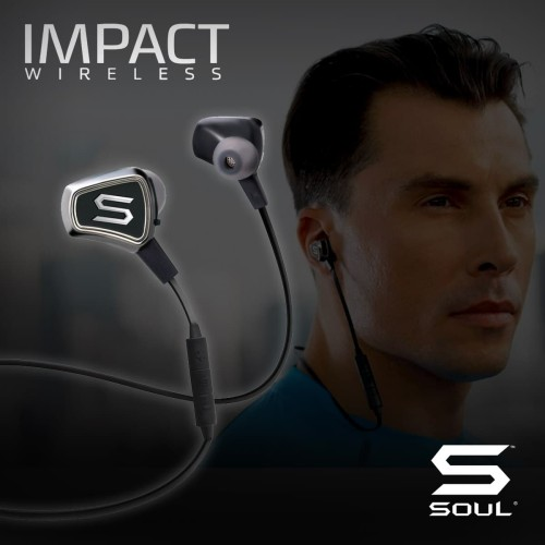 Foto Produk IMPACT WIRELESS High Efficiency Bluetooth Earphone SOUL Black - Hitam dari Soul official