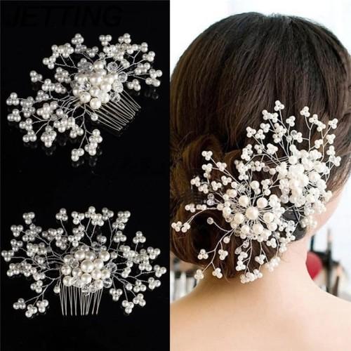 Foto Produk Sirkam rambut mutiara / aksesoris rambut sanggul pengantin dari QTINGSHOP