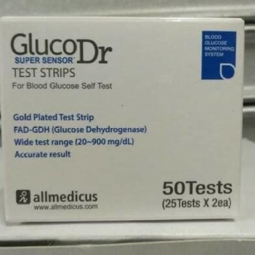 Foto Produk Test Strip Gula Darah Gluco Dr Super Sensor dari TokoTensi
