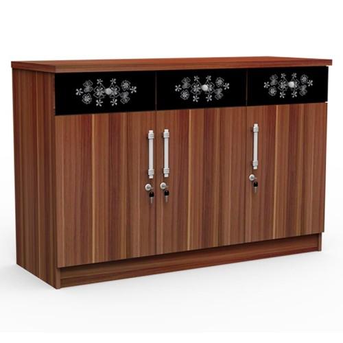 Foto Produk SUPER Kitchen Set Bagian Bawah Tiga Pintu KSB 831 French Walnut dari Super Furniture Online