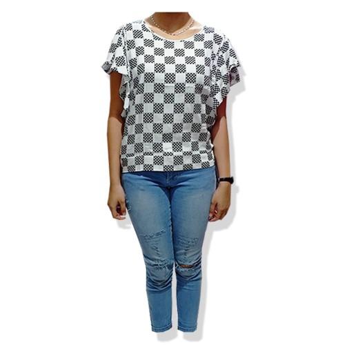 Foto Produk blouse sabrina fere kotak bahu bolong dari toko super murah