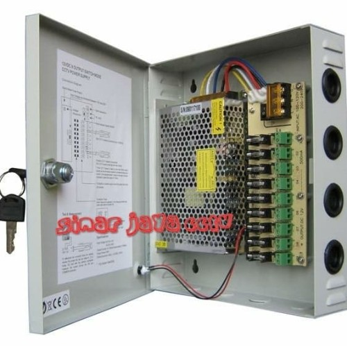 Foto Produk POWER SUPPLY BOX ADAPTOR CCTV 12V 10A dari sinarjaya cctv