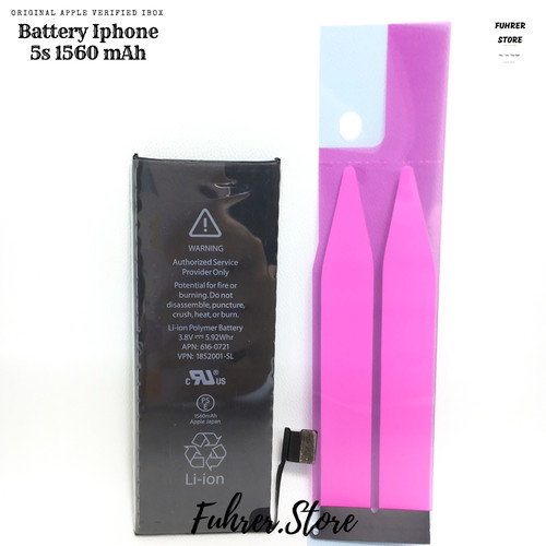 Foto Produk Baterai Apple Iphone 4,4s,5,5s,6,6s No Fake, 100% Original Garansiiii dari Fuhrer Shop