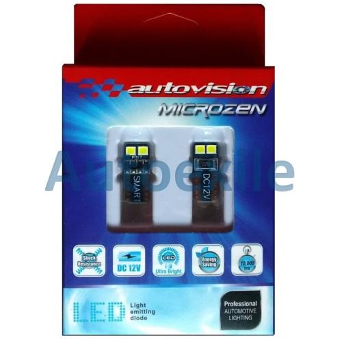 Foto Produk Autovision Microzen LED T10 W5W Smart Putih Lampu Senja Motor Mobil dari Autoexile