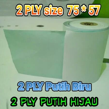 Foto Produk kertas kasir 2 ply 75 x 60 putih kuning dari produsenkertaskasir