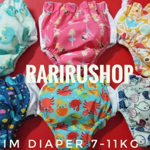 Foto Produk [Size 1 BB 7-11KG] Swim Diaper Popok Berenang Minikinizz dari RaRiRu Shop