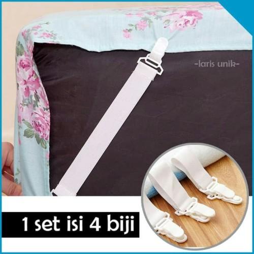 Foto Produk Alat pengait ujung sprei bed cover tempat tidur sheer grippers karet dari Tuan Toman