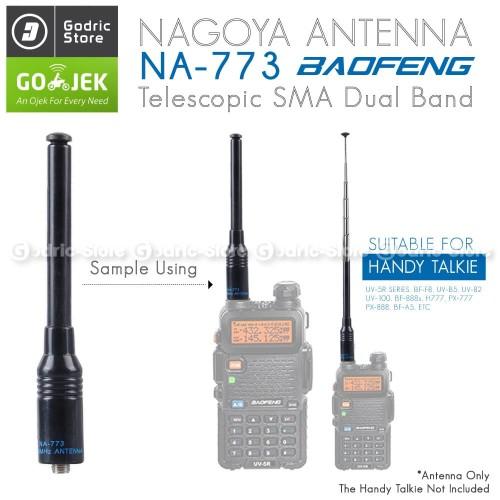 Foto Produk Nagoya NA-773 SMA-F Antena HT NA773 Baofeng 888 UV5R Weierwei Taffware dari G-Rex