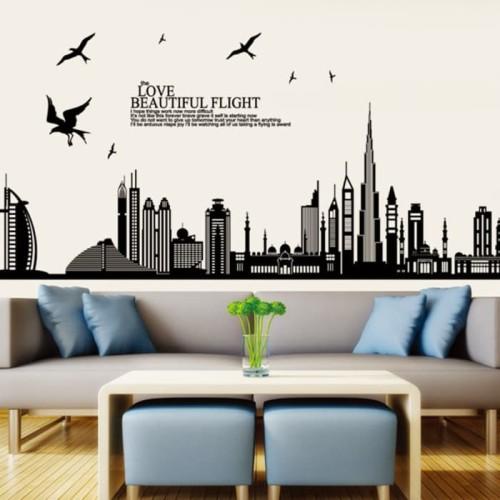Foto Produk JM7280 Beautiful Dubai wallsticker wall sticker stiker dinding dari etoshop