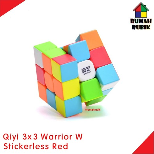 Foto Produk Rubik 3x3 Qiyi Warrior W Stickerless / Rubik Murah dari Rumah Rubik