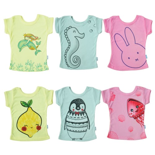 Foto Produk Kazel Tshirt Girl Mermaid Edition - NB dari Kazel Babywear