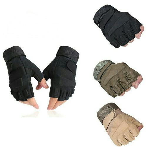 Foto Produk Sarung Tangan tactical HYQZ Sarung tangan pendek sarung tanga touring dari Gracia Colection