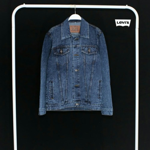 Foto Produk Jaket Jeans Levis Polos Warna Biru Tua Harga Murah - Biru, M dari Skate Surf Store