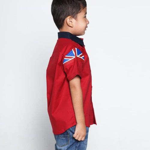 Foto Produk Moejoe Boys Britsleeve Shirt - RED - 2-3 tahun dari moejoeapparel
