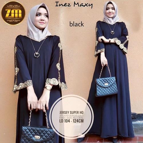 Foto Produk Gamis muslim hitam dress muslim hitam dress pesta murah abaya turkey dari LZonaFashion